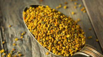 Pollen frais dans cuillère